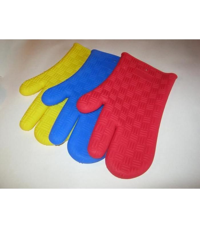 Кухонная силиконовая перчатка (рукавица) прихватка на 3 пальца