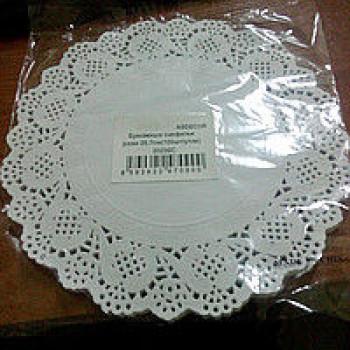 Салфетка ажурная сервировочная 26,5 см (100 шт./уп.)