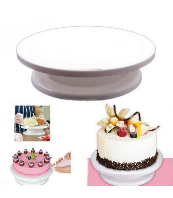 Вращающаяся подставка для торта 32см пластик