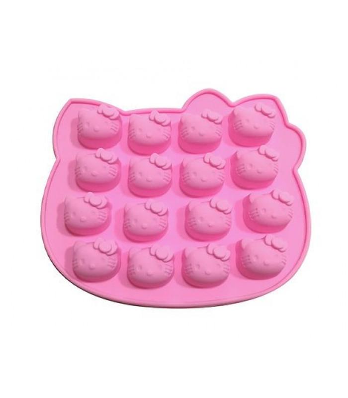 "Форма силиконовая для конфет ""Hello Kitty"" 16шт."